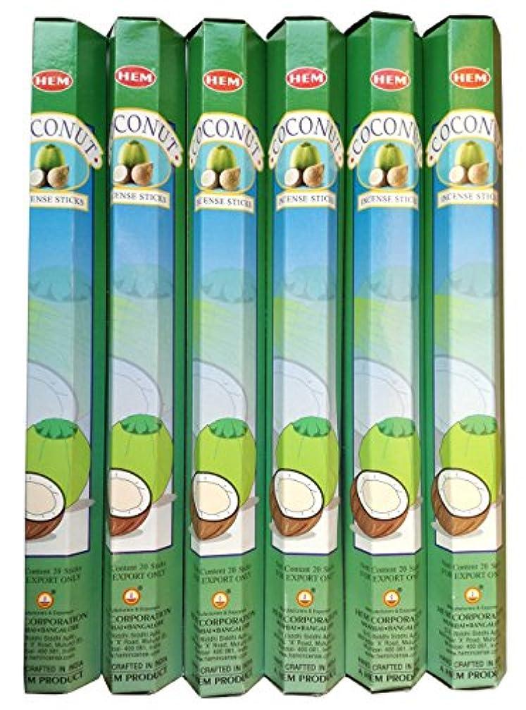 中央膨らみ実験的HEM ココナッツ 6個セット