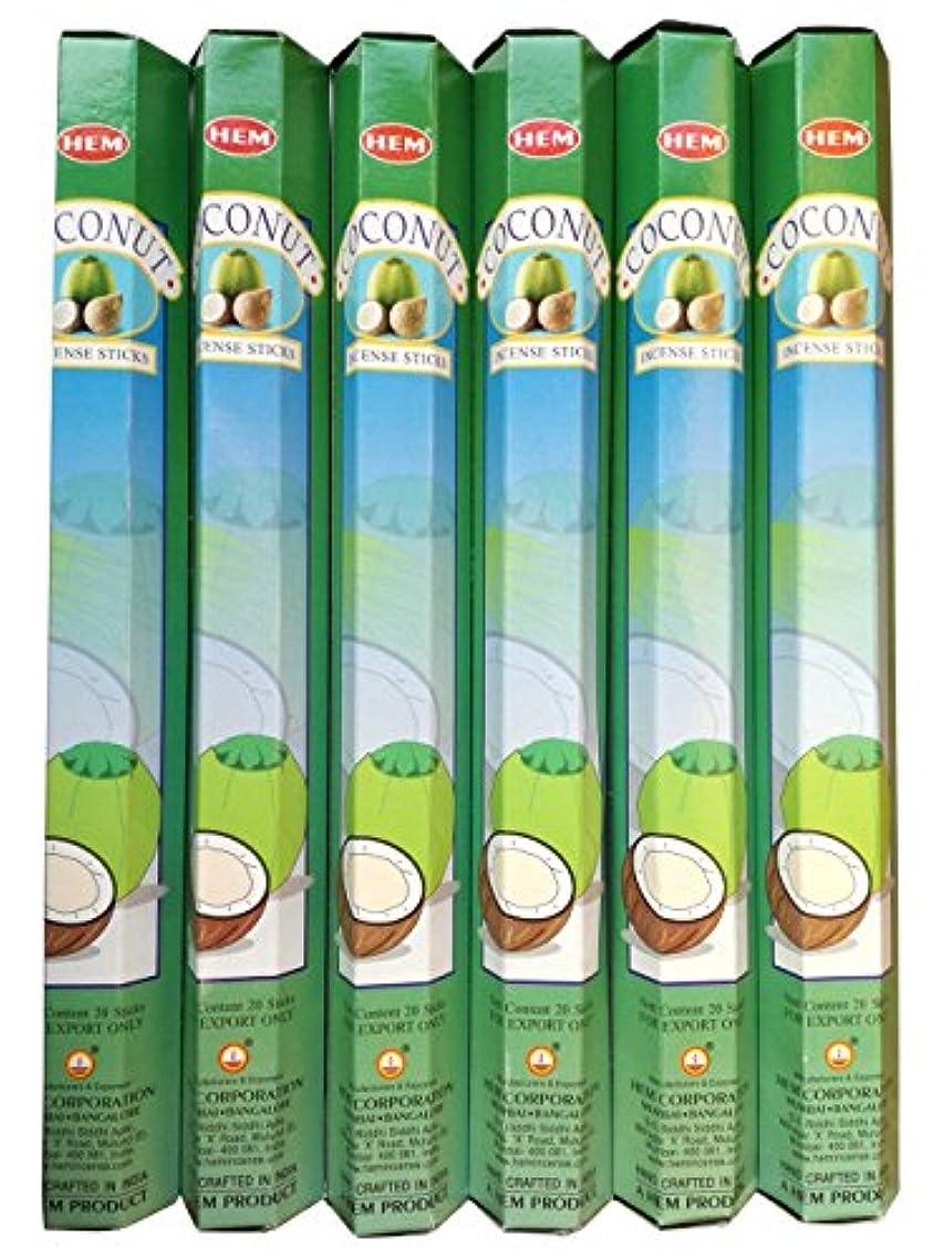 ウイルス問題キャンドルHEM ココナッツ 6個セット