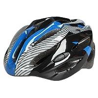 自転車 サイクルヘルメット 大人用 保護ヘルメット 超軽量 通気孔21個 頭囲サイズ調整可能 頭囲54-62cm 頭守る ブルー