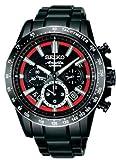 [セイコー]SEIKO 腕時計 BRIGHTZ ANANTA   ブライツアナンタ メカニカルクロノグラフ 中澤佑二コラボモデル ブラック&レッドダイヤル 【数量限定】 SAEK017 メンズ