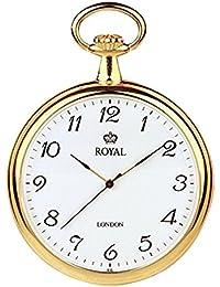 [ロイヤルロンドン]ROYAL LONDON 懐中時計 ポケットウォッチ オープンフェイス クォーツ 90014-02 【正規輸入品】