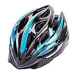 超軽量 サイクリングヘルメット 高剛性 23穴通気アジャスター サイズ調整可能 6色 自転車用 (青)
