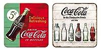 コカ・コーラ Coca-Cola/コースター 2枚 セット (ブリキ製)