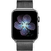 COVERY コンパチブル apple watch バンド,ミラネーゼループ コンパチブル アップルウォッチバンド コンパチブル アップルウォッチ3 ステンレス留め金 コンパチブルapple watch series 4/3/2/1に対応 (42mm,44mm,スペースグレー)