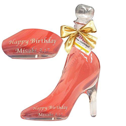 きざむ 名入れ シンデレラシュー シンデレラ ガラスの靴 リキュール 酒 ギフト 350ml ピンク