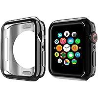 NN.ORANIE コンパチブル Apple Watch Series 4 ケース 44mm メッキ TPU ケース 耐衝撃性 超簿 脱着簡単 保護ケース アップルウォッチ カバー Apple Watch 4に対応 (ブラック/44mm)