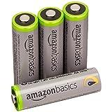 Amazonベーシック 充電池 高容量充電式ニッケル水素電池単3形4個パック(充電済み、最小容量 2400mAh、約500回使用可能)