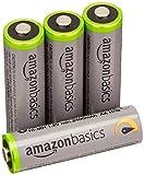 Amazonベーシック 高容量充電式ニッケル水素電池単3形4個パック(充電済み、最小容量 2400mAh、約500回使用可能)