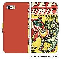 スマホケース 手帳型 shm04 ケース 8053-D. retro_comics shm04 ケース 手帳 [AQUOS SH-M04] アクオス