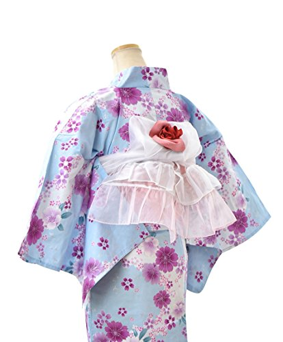 ノーブランド品 Sayoko プチへこ帯 2段フリル 白ピンク