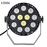LIXADA DMX-512 RGBW LED ステージライト parライト ディスコライト ミラーボール ストロボ 8CH 15W AC 100-240V 舞台 / 演出 / 照明 /