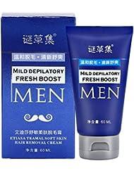 脱毛クリーム、60ML男性のボディ脱毛腕の脚の髪の痛みを除去する美容クリーム 脱毛クリーム