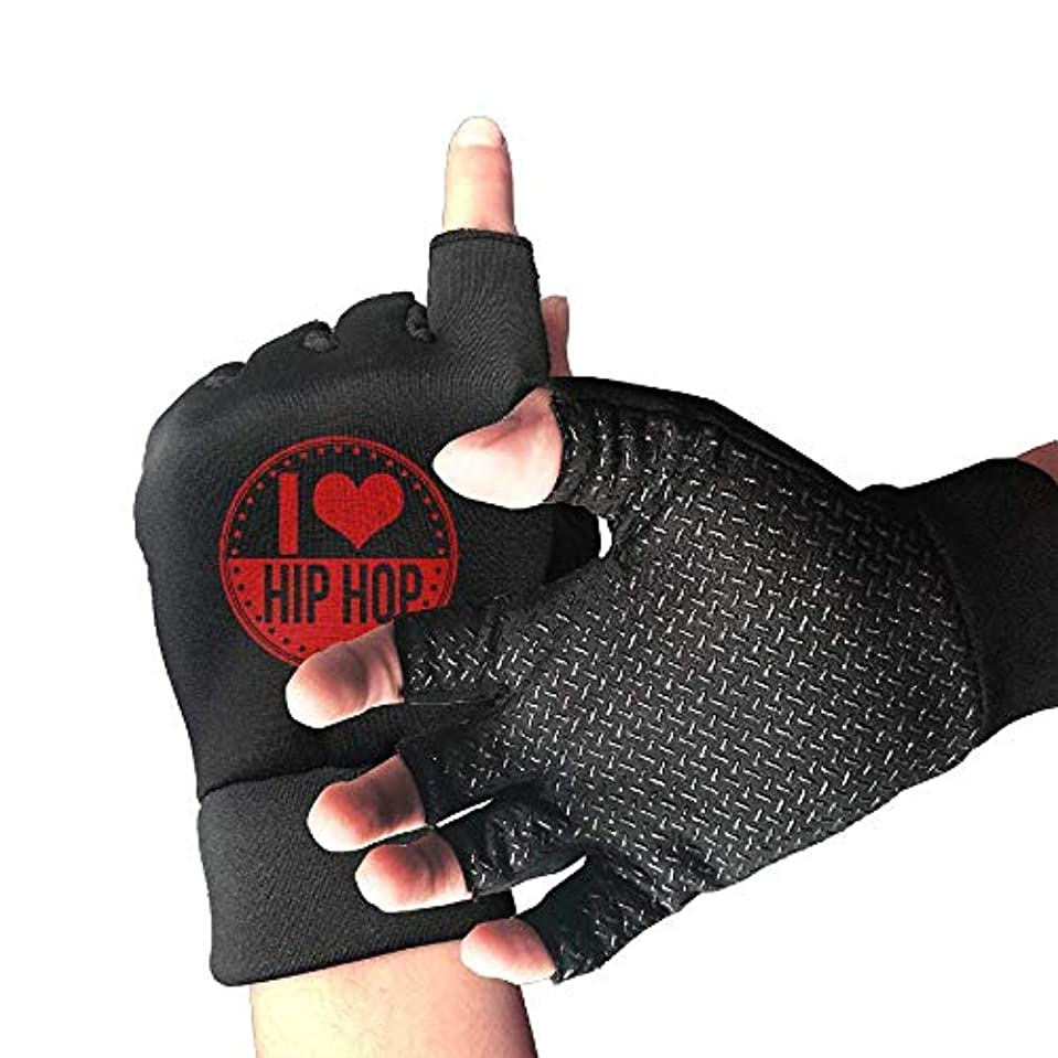 重量充電形式Cycling Gloves I Love Hip Hop Men's/Women's Mountain Bike Gloves Half Finger Anti-Slip Motorcycle Gloves
