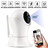 Wifi IPカメラ1080p HD 360°動き検出、双方向オーディオ、赤ちゃんの老人のためのナイトビジョンリモートコントロールペット、サポートAndroidおよびIOS(日本語取扱説明書)