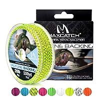 M MAXIMUMCATCH Maxcatchバッキングライン フライフィッシング用100yard(約90m) 20/30lb セット(ホワイト、イエロー、オレンジ、ブラック&ホワイト、ブラック&イエロー) (ブラック&イエロー, 30lb(300ヤード))