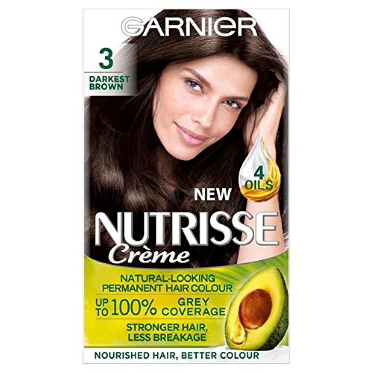 社会学名前チーム[Nutrisse] ガルニエNutrisse最も暗い茶色の永久染毛剤 - Garnier Nutrisse Darkest Brown Permanent Hair Dye [並行輸入品]