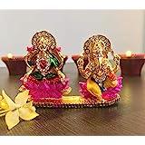 Itiha Lakshmi Ganesh Lotus Idol for Home Temple - 2 inches