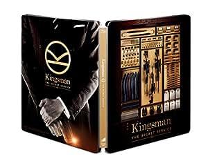 【Amazon.co.jp限定】 KINGSMAN / キングスマン ブルーレイ プレミアム・エディション (初回限定版)(日本オリジナルデザイン ダブルジャケット仕様スチールブック&ブロマイド5枚セット+Kingsmanオリジナル封筒) [Steelbook] [Blu-ray]