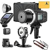 Godox ad600bm Ad同期1/ 8000s 2.4Gワイヤレスフラッシュライトスピードライト、Godox xpro-n for Nikonカメラ、ad-h600bヘッド、pb-600バッグ、cb-09スーツケースキャリーバッグ、Letwingカメラネックストラップ