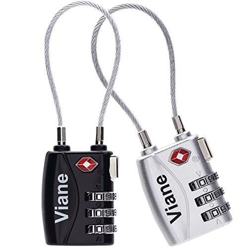 TSA鍵 安心 ワイヤータイプ 2色セット旅行用 3桁ダイヤ...