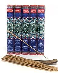 お香5パックセット ギフトパック 各パックにお香立て付き 計150本 お香立て5付き ブルー
