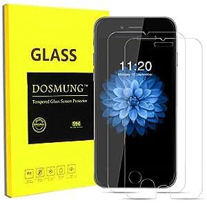 iPhone6S 6 液晶保護フィルム-DOSMUNG(2枚)iPhone6S 6 強化ガラス フィルム- 9H 指紋防止 気泡ゼロ