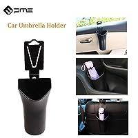 車の傘ホルダー収納ボックス、PME多機能後部座席ゴミ箱、ヘッドレスト吊りオーガナイザー - ブラック(パック1)