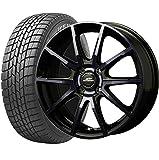 2018年製 軽自動車用 国産スタッドレスタイヤホイールセット 155/65R14 14インチ D.シュナイダーDR-01 ダークブルークリア