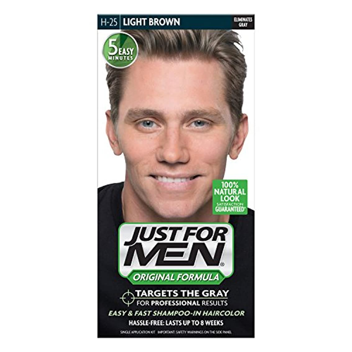 項目マグ浸透するJust For Men Shampoo-In Hair Color Light Brown # 25 1 Application (並行輸入品)
