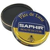 [サフィール] SAPHIR ビーズワックスポリッシュ 50ml 靴磨き 保湿 補色 ツヤ出し 9550002 (ブラック)[HTRC4.1]