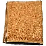 WKG スポーツタオル 1枚 日本製 泉州製 綿100% ソフトタオル 無地 (茶色)