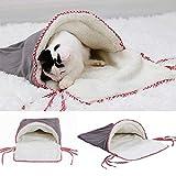 FidgetGear ペット猫犬巣寝袋子犬ソフト暖かい洞窟のベッドハウスマットパッド毛布