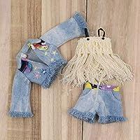 TOUCHMELブライス人形氷共同体タッセルおもちゃ服デニムコートショートパンツ