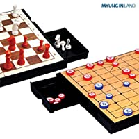 [MYUNGINLAND] M159 Magnetic Chess & Chinese Chess Xiangqi Game 2 in 1 Set