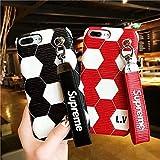 スマホケース iPhone7/8 7Plus/8Plus iPhoneX/XS IphoneXsMAX IphoneXR ケース サッカーデザイン 高品質 ケース ストラップ付 2色