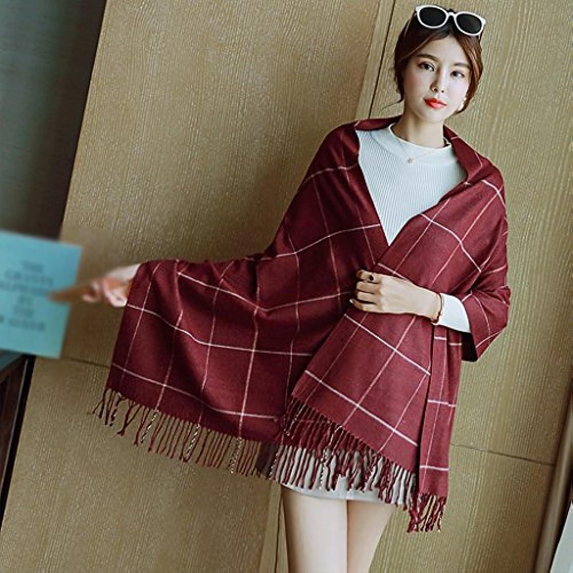 アスリートメッセージアンドリューハリディGAODUZI 長い二重使用ショール厚い春と秋の野生の暖かいスカーフ女性 ( 色 : B )
