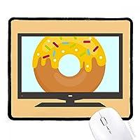 黄色のドーナツクリーム甘いデザート マウスパッド・ノンスリップゴムパッドのゲーム事務所