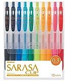 ゼブラ ジェルボールペン サラサクリップ 0.3 10色 JJH15-10CA