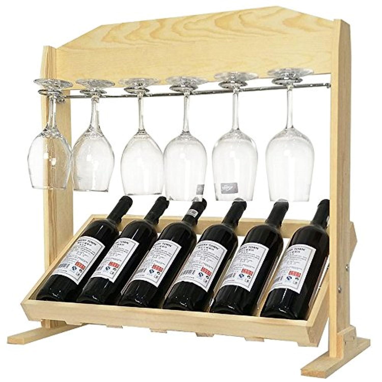 YD-Wine rack ソリッドウッドコーヒー/木材/ワニスデスクトップシンプルな多機能ストレージ便利なストレージを組み立てる必要はありません環境保全3色オプション # (色 : Natural Color)