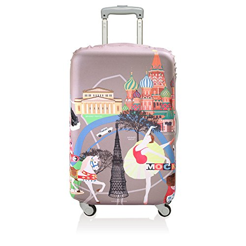(ローキー) LOQI スーツケース カバー 【URBAN】Moscow【Lサイズ】