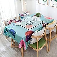 テーブルクロスのシンプルなコットンとリネンの防水長方形の多目的クロスアートコーヒーテーブルデコレーションホームテーブルクロス (Color : ブルー, サイズ : 138*138CM)