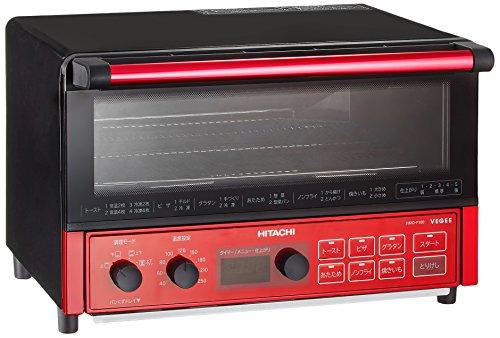 日立 コンベクションオーブントースター 1,300W 4枚焼き 遠赤ヒーター オートメニュー HMO-F100 R