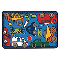 Wheels on the Go Kids Rugラグサイズ: 4 ' x 6 '