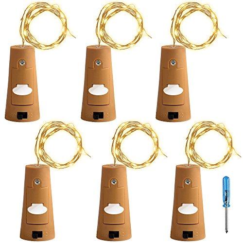 6個セット コルクライト AFUNTA ナイトライト 文字列ライト ボトルライト LED ライト LEDストリングライト イルミネーション ロマンチック