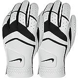 NIKE ゴルフ Nike GG0478 101 Dura Feel Jr Golf Gloves, Medium, Black/Met Silver/Cool Grey [並行輸入品]
