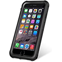 KYOKA iPhone8 Plus ケース iPhone7 Plus ケース 防水ケース 指紋認証対応 防水 防塵 耐震 耐衝撃 IP68 アイフォン7プラスケース 防水カバー (iPhone8Plus/7Plus, ブラック)