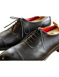 (クツヒモドットコム)靴ひも.com ポリエステル靴ひも(黒・丸ひも・2mm幅)40cm・45cm・50cm・55cm・60cm・65cm・70cm・75cm
