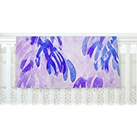 KESS InHouse Iris Lehnhardt Abstract Leaves III Blue Purple Fleece Baby Blanket 40 x 30 [並行輸入品]