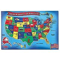 Melissa & Doug USAマップフロアパズル ギフトカード付き