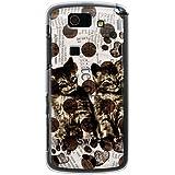 CaseMarket 【ポリカ型】 au AQUOS PHONE SL IS15SH ポリカーボネート素材 ハードケース [ キャット ウォールペーパー - ホワイト ]